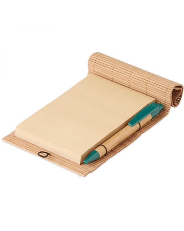 Cortina Note Bamboo 80 Sheet Notebook & Pen