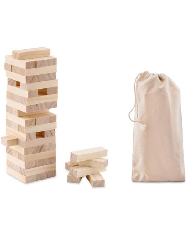 Pisa Tower Game In Cotton Pouch