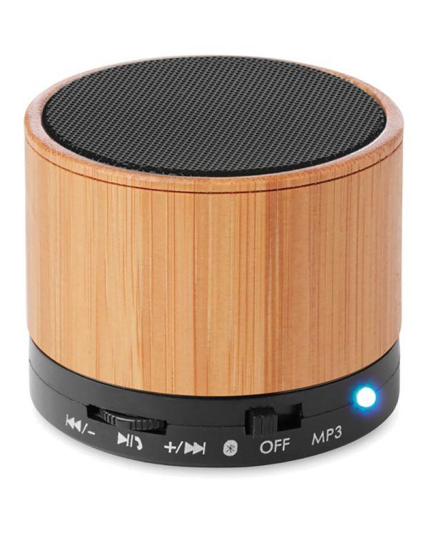 Round Bamboo Round Bamboo Bluetooth Speaker