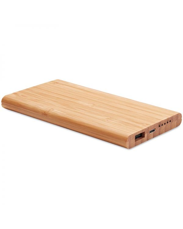 Arena Wireless Power Bank In Bamboo