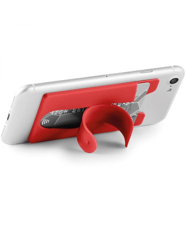 Arc Silicone Cardholder With Snap