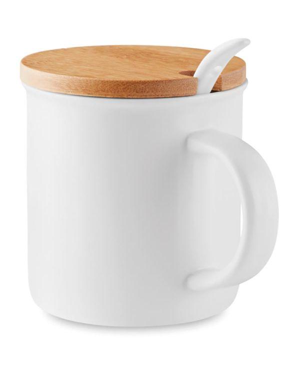 Kenya Porcelain Mug With Spoon