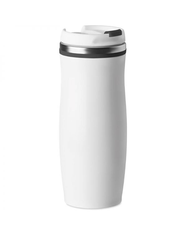White 400 ml Double Wall SS Mug