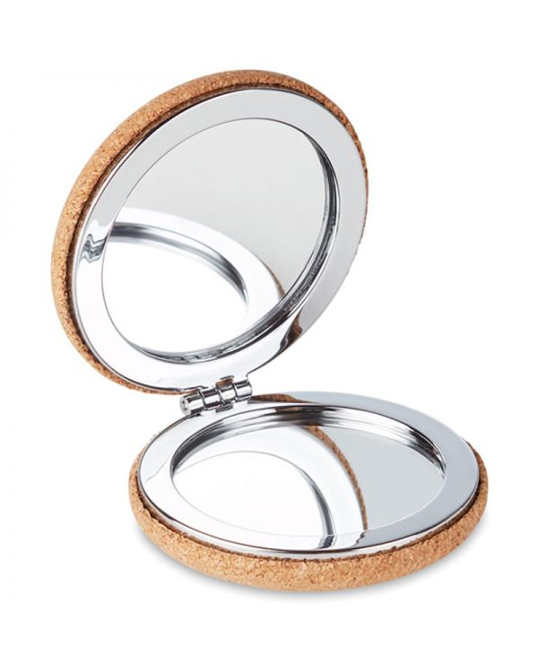 Guapa Cork Pocket Mirror With Cork Cover