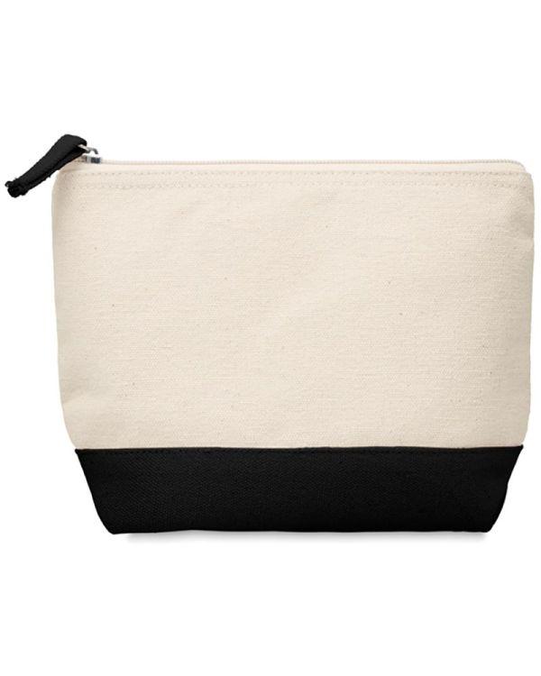 Kleuren Bicolour Cotton Cosmetic Bag