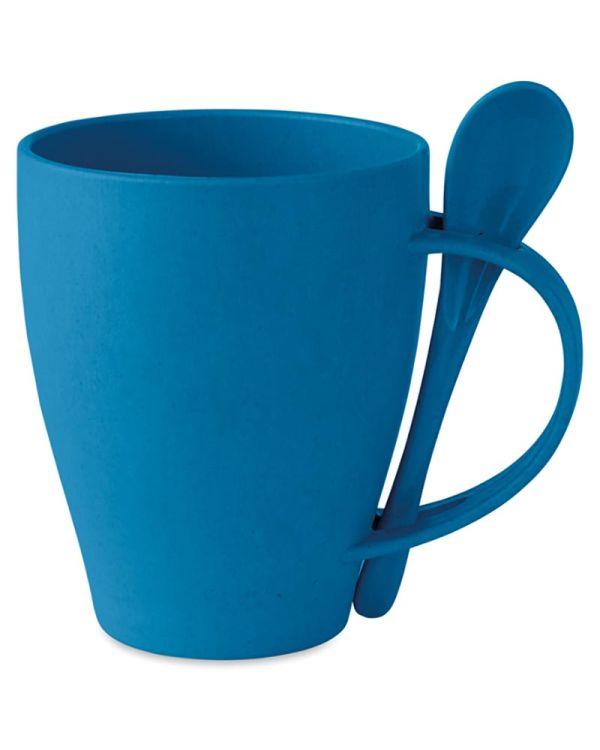 Dual Fibre Mug With Spoon Bamboo Fibre/PP