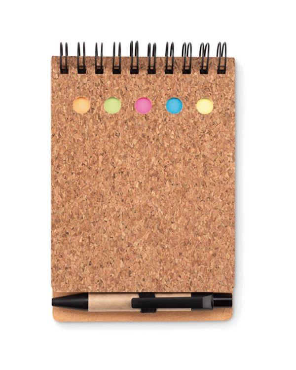 Multicork Cork Notebook And Sticky Notes