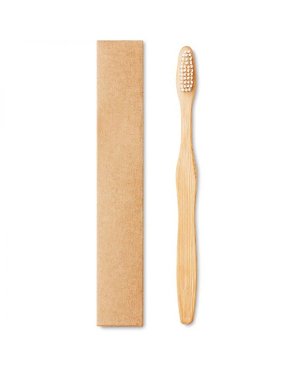 Dentobrush Bamboo Toothbrush In Kraft Box