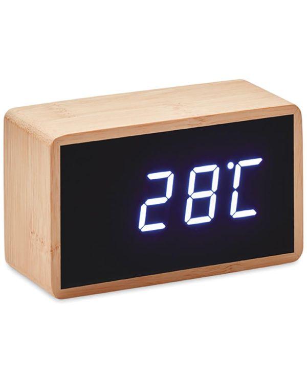 Miri Clock LED Alarm Clock Bamboo Casing