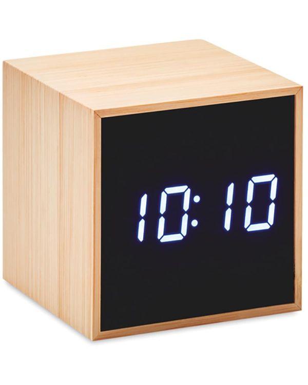 Mara Clock LED Alarm Clock Bamboo Casing