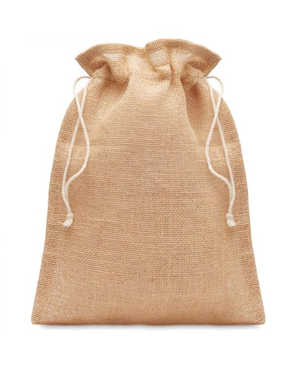 Jute Small Jute Gift Bag 14 X 22 cm