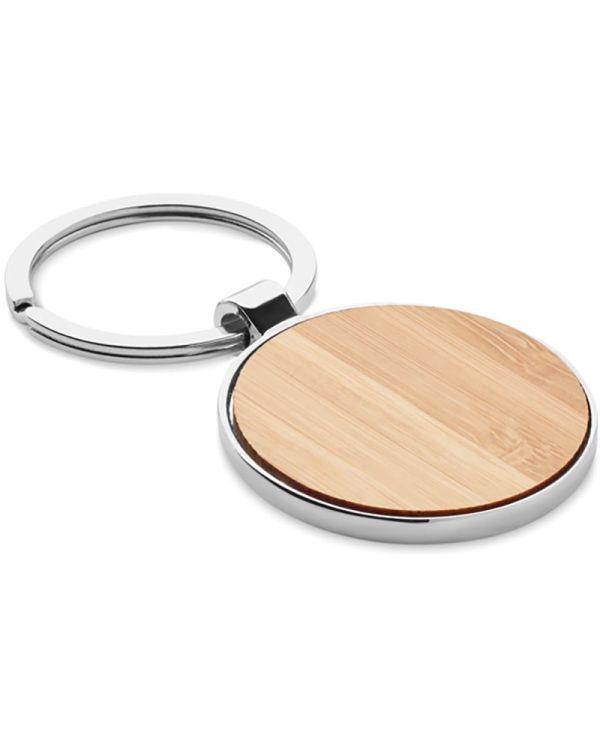 Ballarat Round Key Ring Metal Bamboo