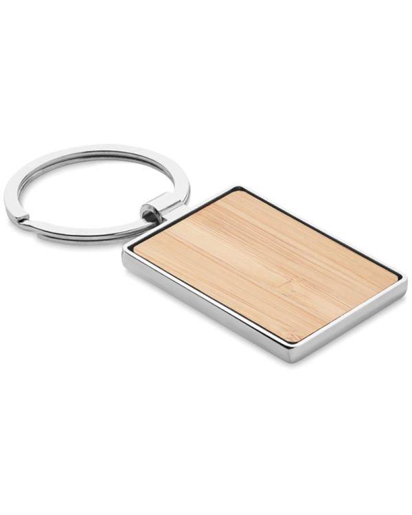 Bendigo Rectangular Key Ring Bamboo