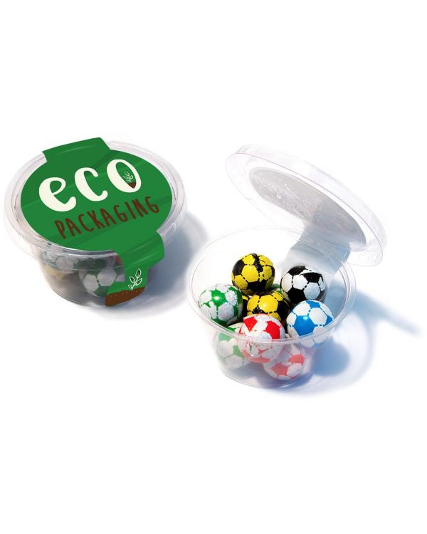 Eco Range - Eco Maxi Pot - Chocolate Footballs