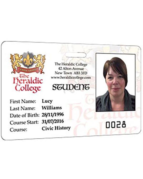 Single Sided Personalised Id/Membership Cards
