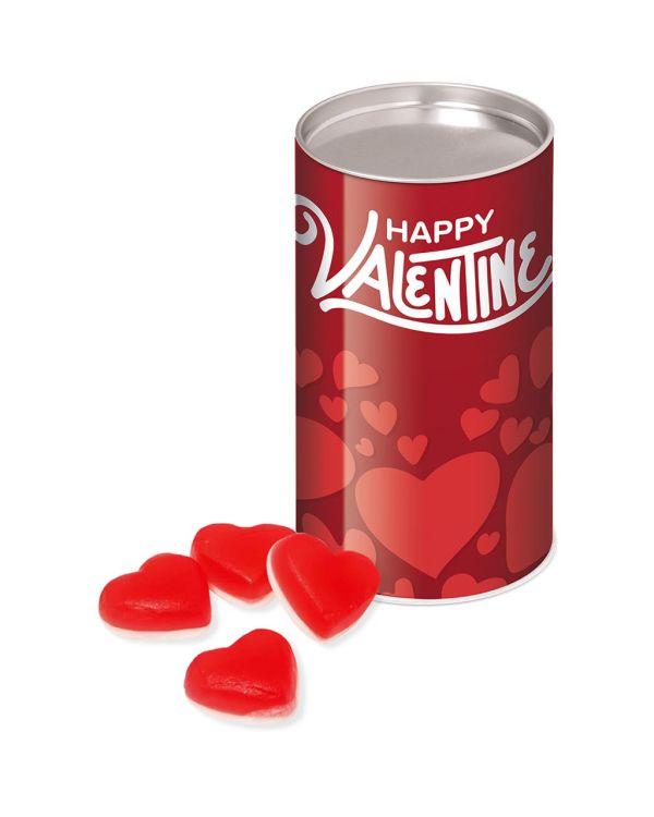 Valentines - Small snack tube - Haribo Heart Throbs