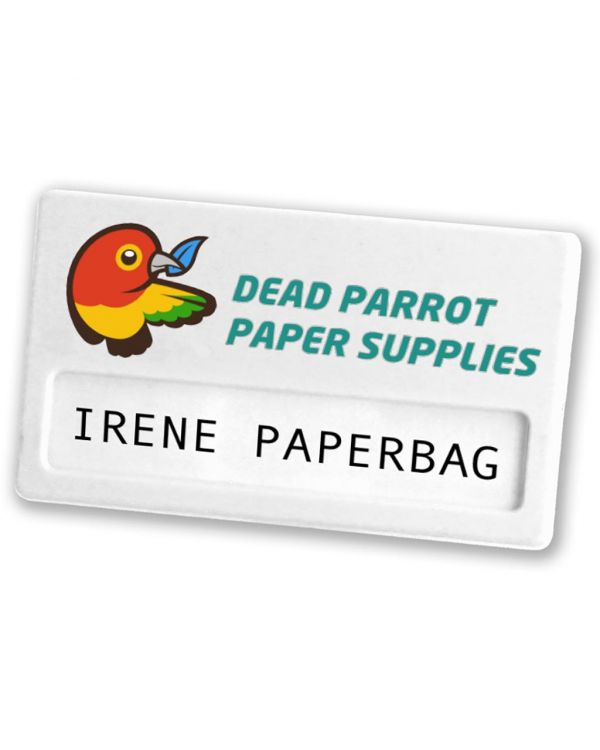 Recycled Name Badge - Safety Pin Fitting