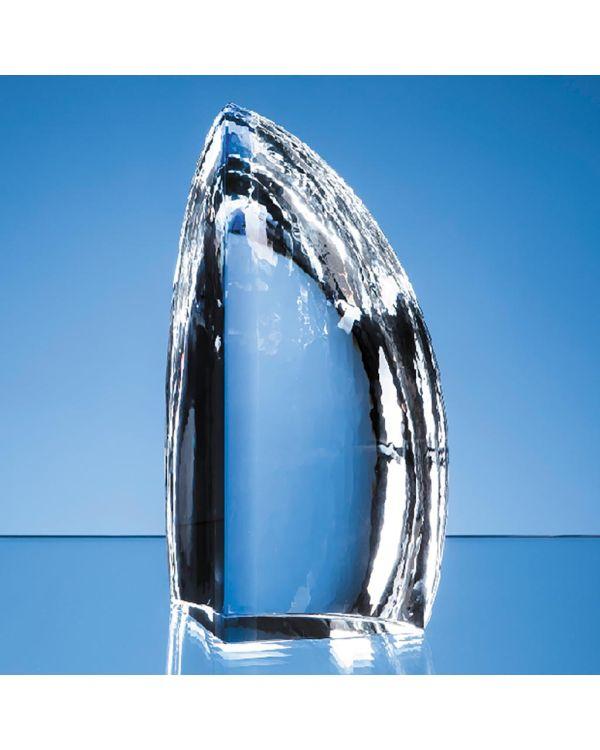 23cm Nik Meller Design Clear Optical Crystal and Cobalt Blue Solitude Award