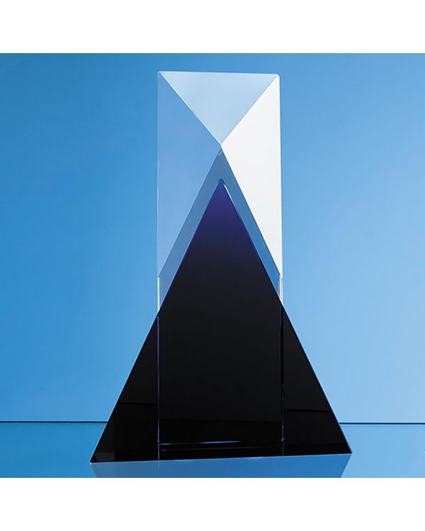 28cm Nik Meller Design Clear Optical Crystal and Cobalt Blue Mixx Award