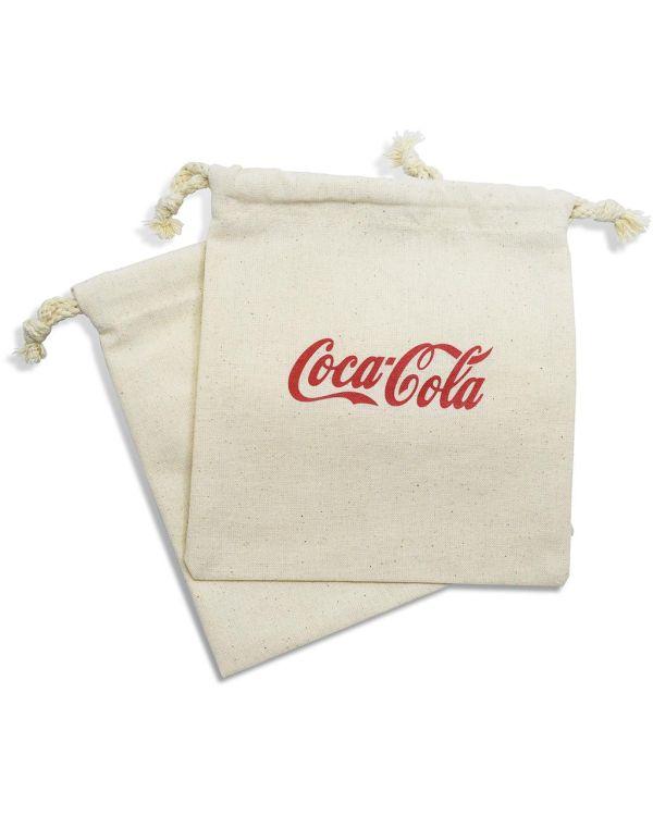 Organic Cotton Drawstring Printed Golf Gift Bag