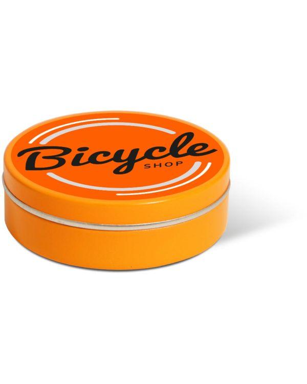 XS Peppermint Tin - Orange - Paper Label