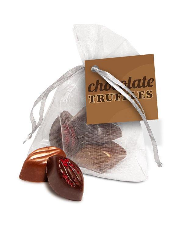 Organza Bag - Cocoa Bean Truffles