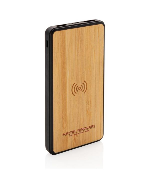 Bamboo 8000 mAh Wireless Charging Fashion Powerbank