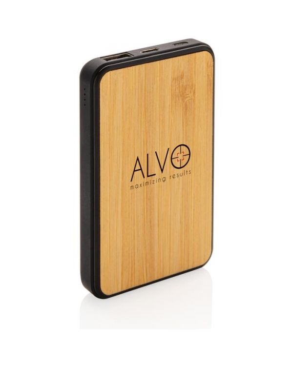 Bamboo 5,000 mAh Fashion Pocket Powerbank