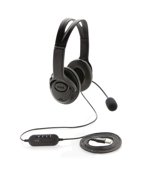Over Ear Wired Work Headset