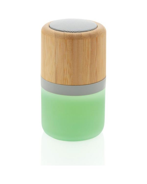 Bamboo Colour Changing 3W Speaker Light