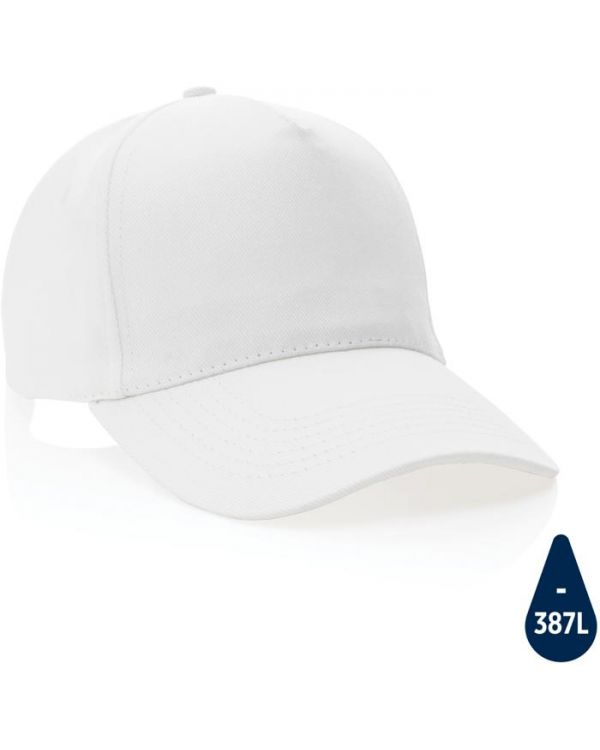 Impact 5Panel 280gr Recycled Cotton Cap With Aware Tracer