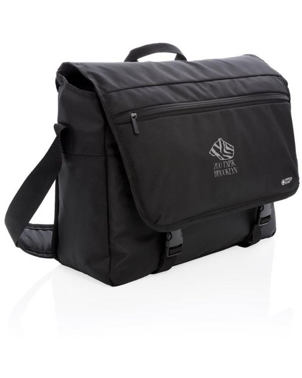 Swiss Peak RFID 15 Inch Laptop Messenger Bag PVC Free