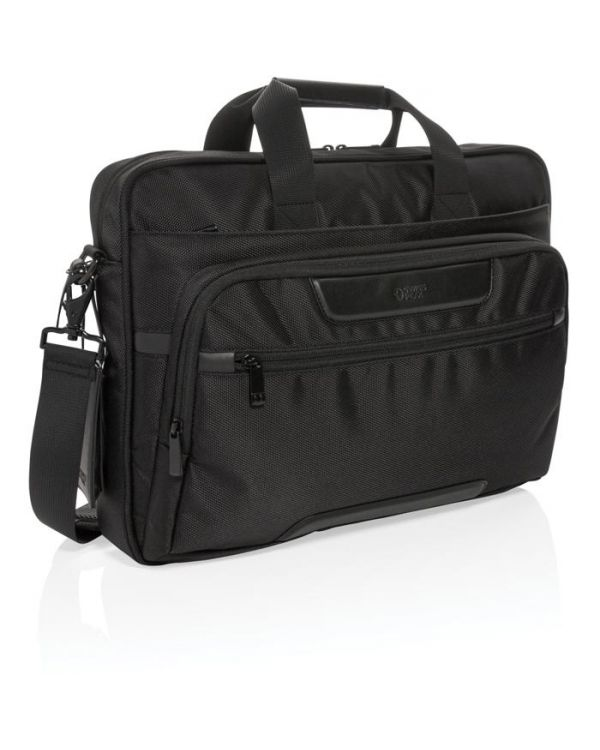 Swiss Peak RPET Voyager RFID 15.6 Inch Laptop Bag