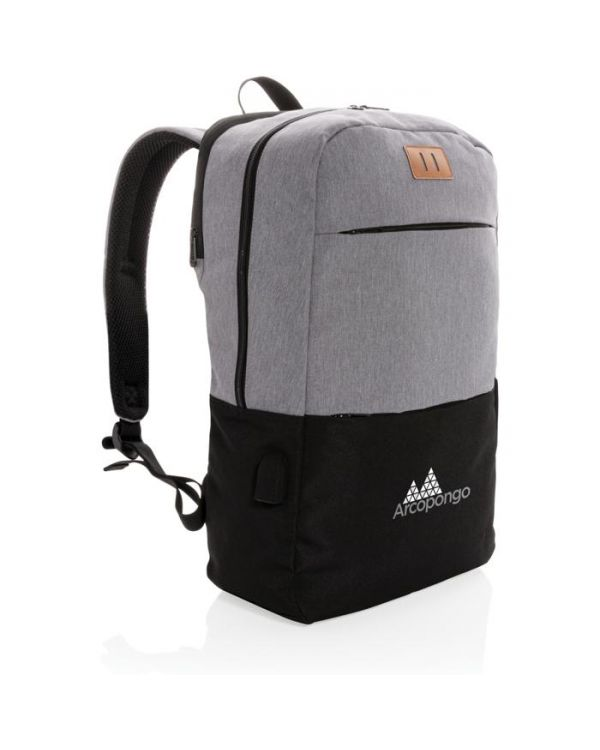 Modern 15.6 Inch USB & RFID Laptop Backpack PVC Free