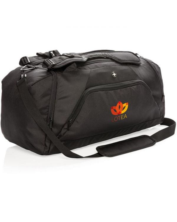 Swiss Peak RFID Sports Duffle And Backpack