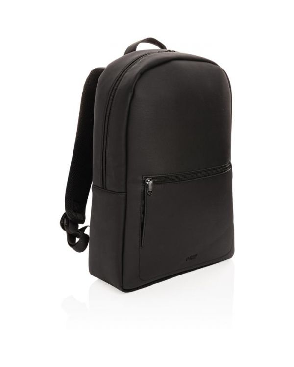 Swiss Peak Deluxe Vegan Leather Laptop Backpack PVC Free