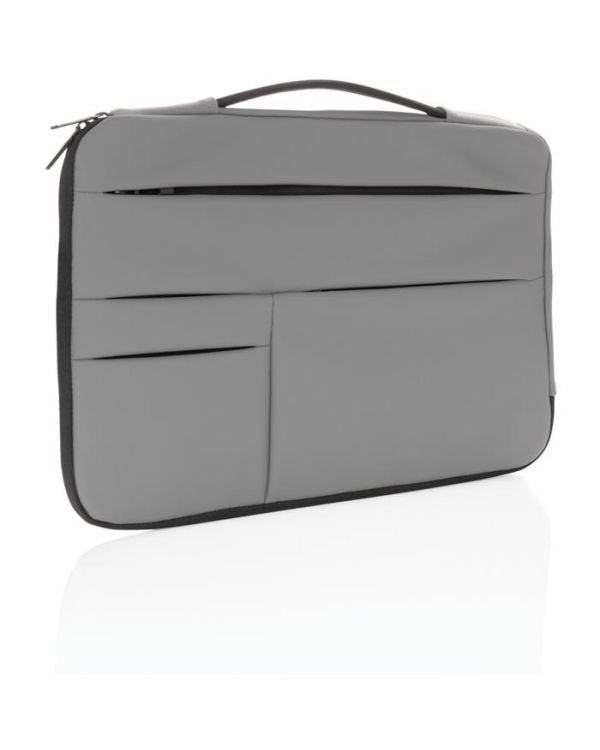 "Smooth PU 15.6"" Laptop Sleeve With Handle"