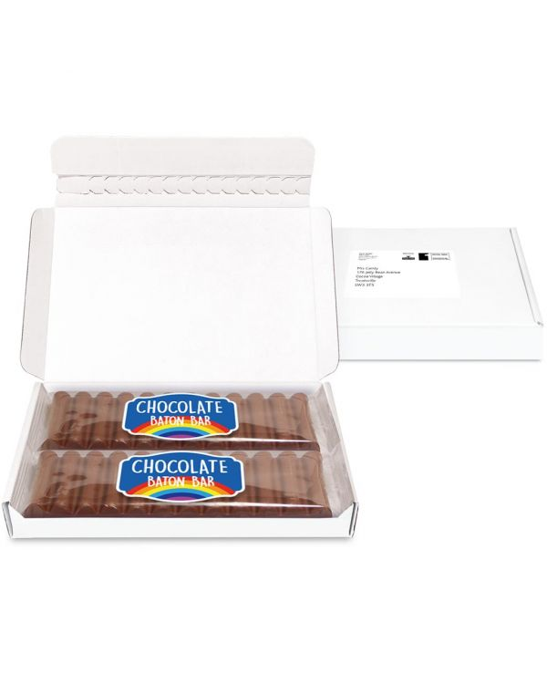 Postal Packs - Midi Postal Box - 12 Baton Bars - PAPER LABEL