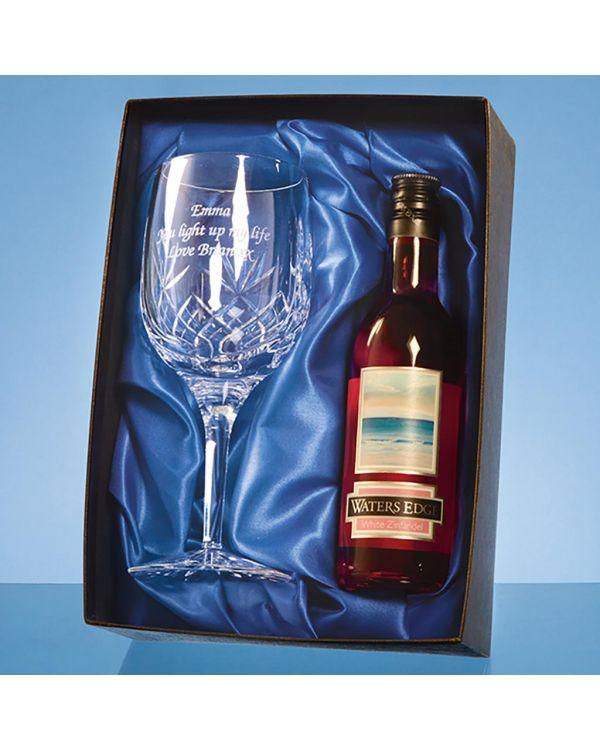 Blenheim Single Goblet Gift Set with a 18.7cl Bottle of Rose Wine