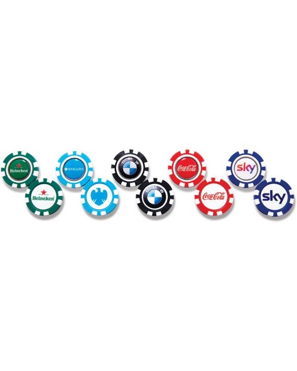ABS Golf Pokerchip With Removable Ball Marker