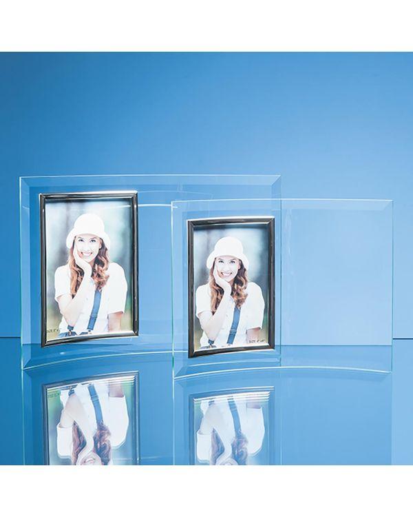 "Bevelled Glass Crescent Frame for 3 1/2"" x 5"" Portrait Photo"