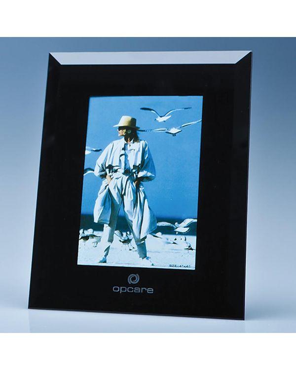 "Black Surround Glass Frame for 4"" x 6"" Photo, H or V"
