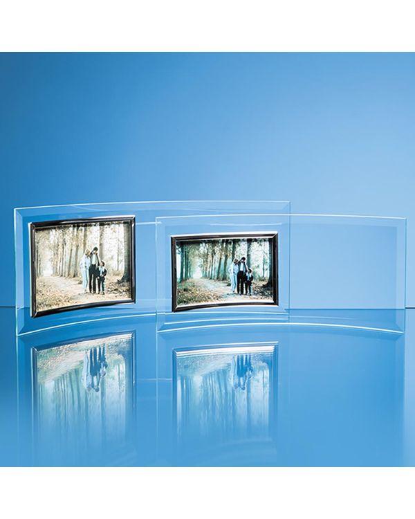 """Bevelled Glass Crescent Frame for 6"""" x 4"""" Landscape Photo"""