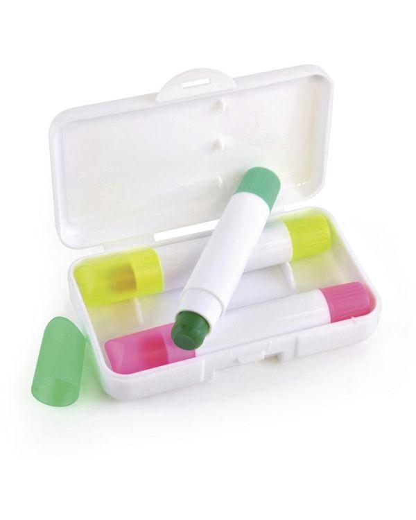 Wax Crayon Highlighter Set