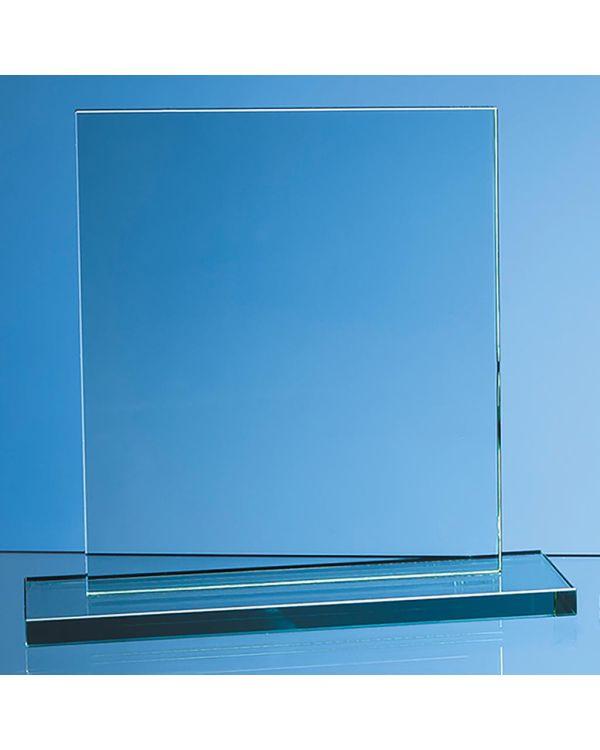 20cm x 17.5cm x 12mm Jade Glass Rectangle Award