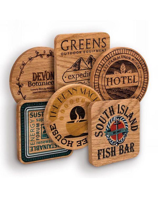 Real Wood Oak Coaster