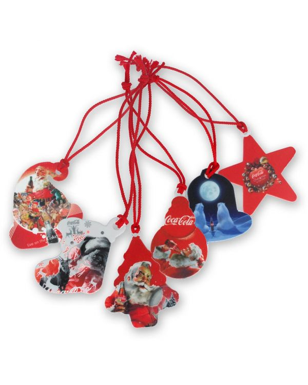 Recycled Set of 6 Christmas Tree Decorations