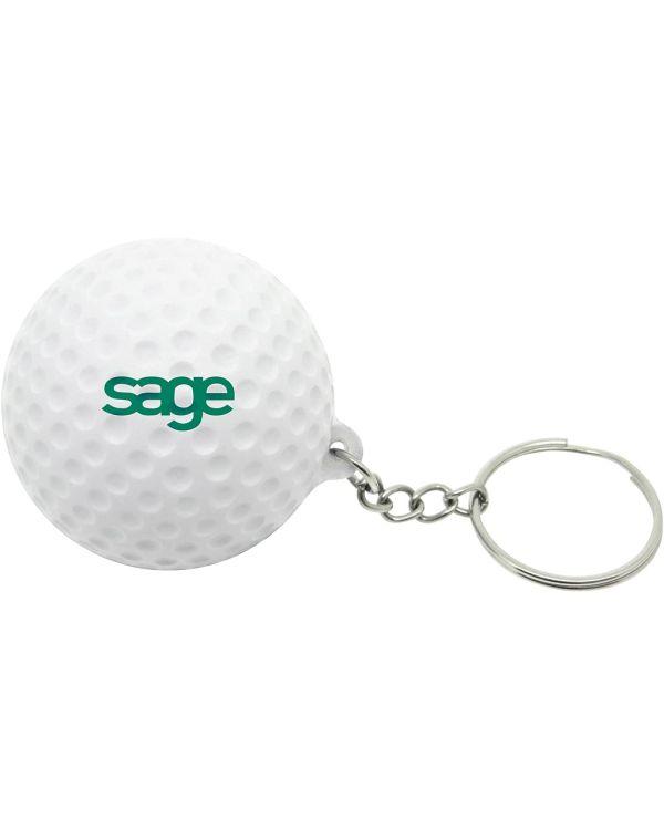 Stress Golf Ball Keyring