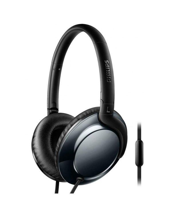 Philips Flite Everlite headphone with mic - dark chrome