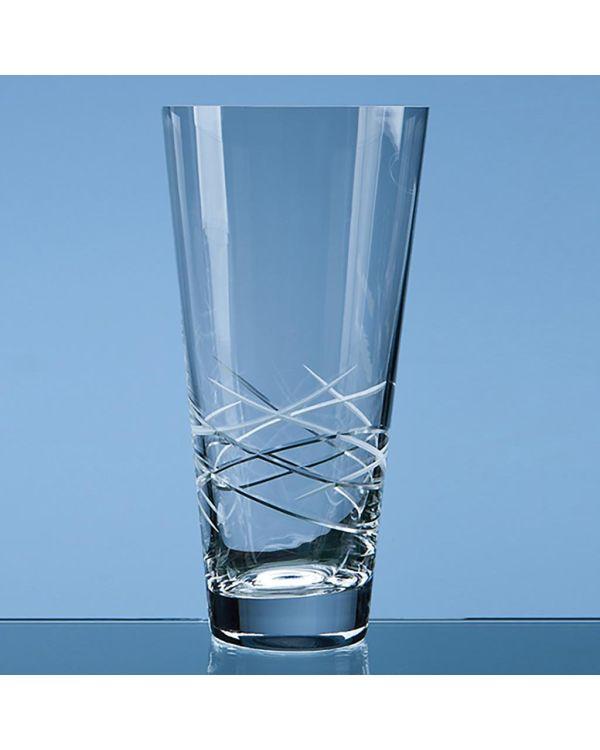 25cm Tiesto Cut Conical Vase